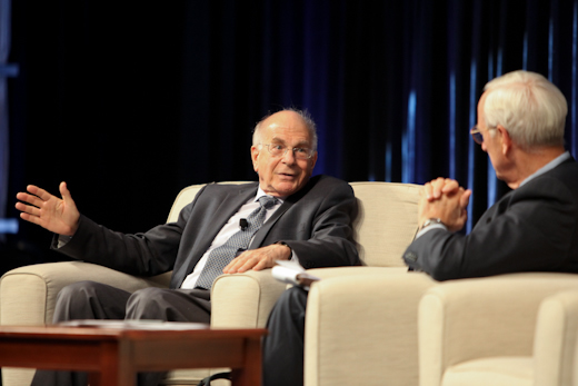 Daniel Kahneman and moderator Arnold S. Wood